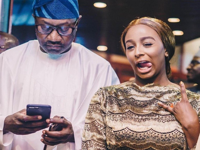 billionaire femi otedola prays for his daughter cuppy against spirit of disobedience on her birthday