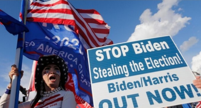 trump supporters storm the streets reject bidens victory