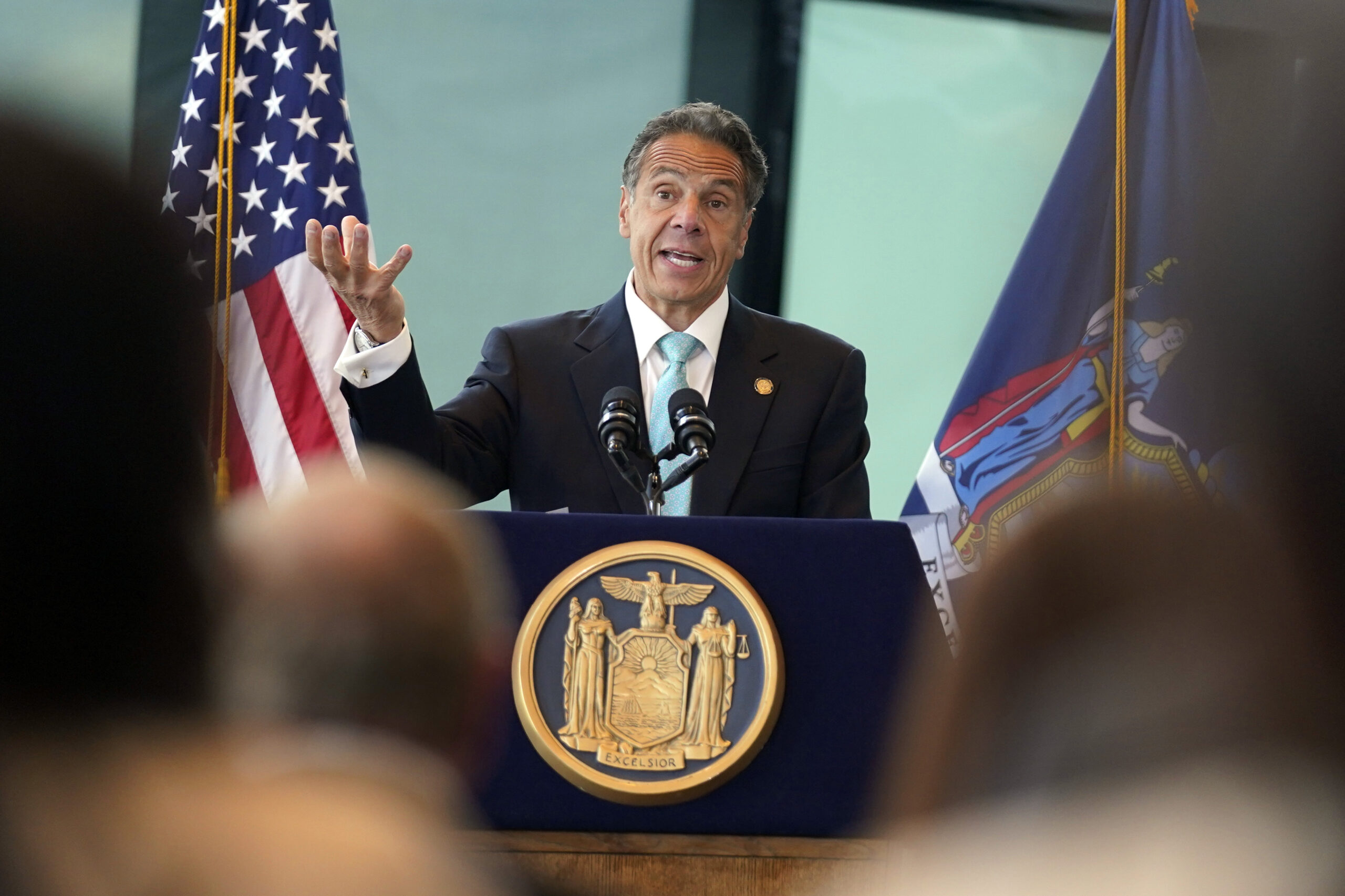 covid19 new york governor lifts curbs as vaccination mark is hit