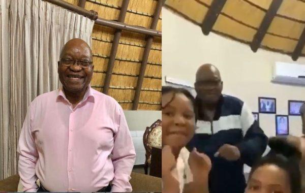 ex president jacob zuma family jump on viral tik tok challenge video