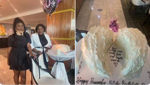 local sisters honour late mother with beautiful cake to celebrate her 50th birthday